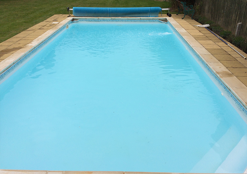 Green pool water treatment after